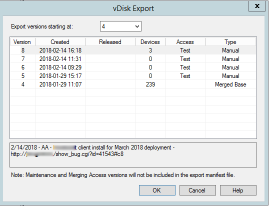 Provisioning Server: Exporting vDisk fails – Wag the Real